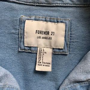Forever 21 Tops - Forever 21 Distress jean button up shirt